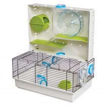 """Midwest Critterville Arcade Hamster Home Clear, Green, Blue 18.11"""" x 11.61"""" x 21.26"""""""