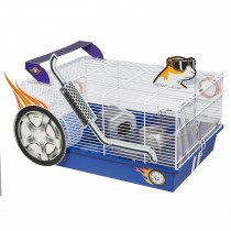 """Midwest Critterville Hod Rod Hamster Home White, Blue 19.5"""" x 13.8"""" x 9.8"""""""
