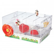 """Midwest Critterville Ladybug Hamster Home White, Red 19.5"""" x 13.8"""" x 9.8"""""""