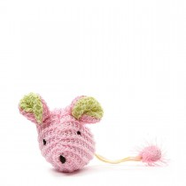 "Our Pets Wee Pinkie Mouse Cat Toy Pink 5"" x 1.5"" x 1"""