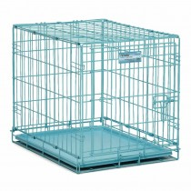 "Midwest iCrate Single Door Dog Crate Blue 24"" x 18"" x 19"" - 1524BL"