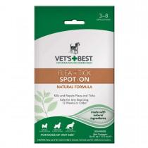 "Vet's Best Dog Flea and Tick Spot-On Formula 0.6oz White 4"" x 1.38"" x 6.75"""