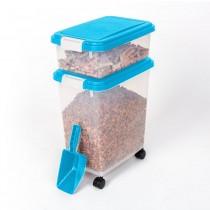 "BioBubble Pet Food Bins and Scoop 16.5"" x 10.8"" x 25.1"""