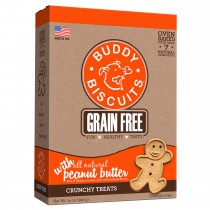 Grain Free Oven Baked Crunchy Dog Treats Peanut Butter 14 ounces