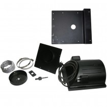 "AKOMA Dog Products Heat-N-Breeze Dog House Heater and Fan with Igloo Bracket Black 10"" x 10"" x 4.5"" - HNB-1001-KIT"