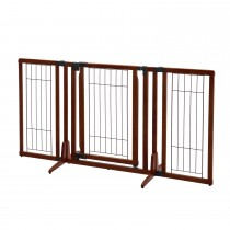 "Richell Premium Plus Freestanding Pet Gate Cherry Brown 34""-63"" x 20.5""-26"" x 32"""